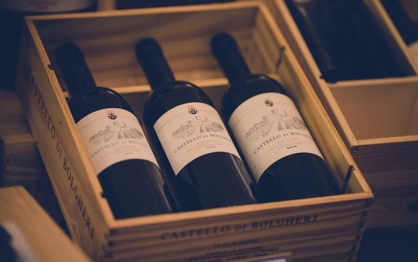 Фото обои вино, три, бутылки