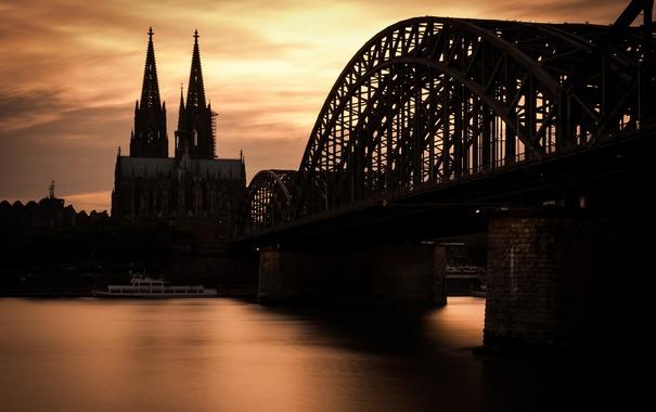 Фото обои Köln, Rhein, Hohenzollernbrücke