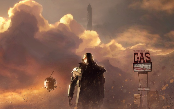 Фото обои Fallout, Washington, gas, NCR Veteran Ranger