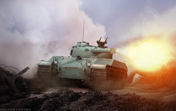 Фото обои tank, танк, танки, World of Tanks, Bat.-Chatillon 25 t, Wargaming.Net, Франция