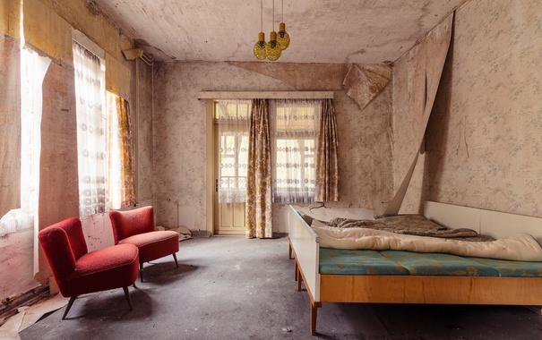 Фото обои комната, кресла, кровати