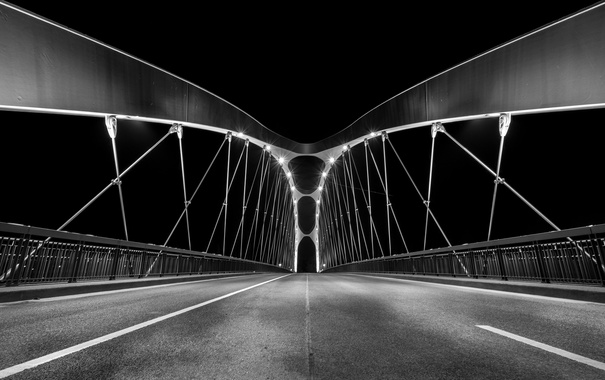 Фото обои мост, Германия, East harbor bridge, Франкфуркт-на-Майне