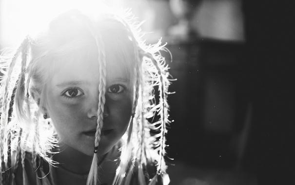 Фото обои настроение, портрет, девочка