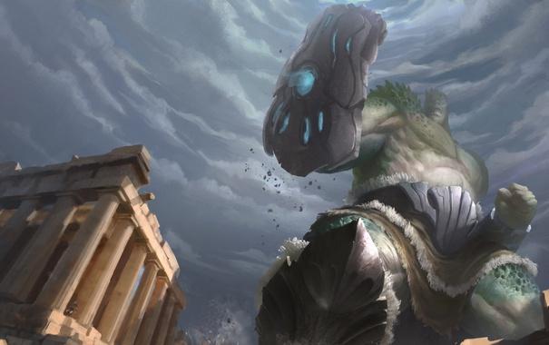 Фото обои гигант, hon, Gauntlet, титан, Heroes of Newerth, moba, Polyphemus