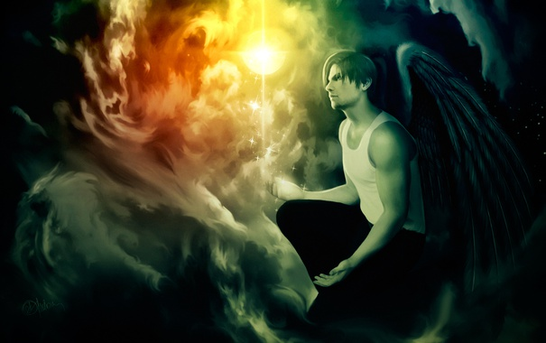 Фото обои Ангел, Обитель зла, Resident Evil, Angel, Biohazard, Leon Scott Kennedy, Леон Скотт Кеннеди