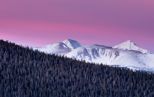 Фото обои небо, горы, природа