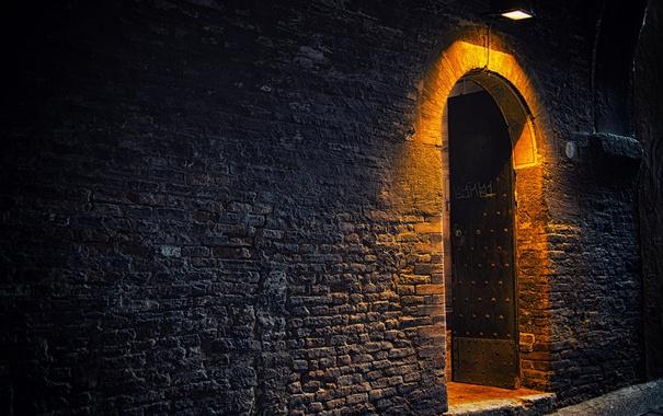 Фото обои стена, дверь, вход