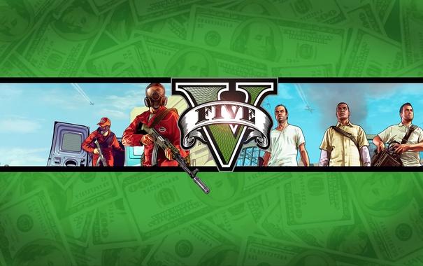 Фото обои оружие, бандиты, сумки, Michael, Майкл, gta, Grand Theft Auto V