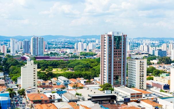 Фото обои пейзаж, дома, Бразилия, мегаполис, Sao Paulo