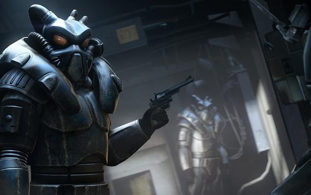 Фото обои Fallout, револьвер, soldier, Enclave