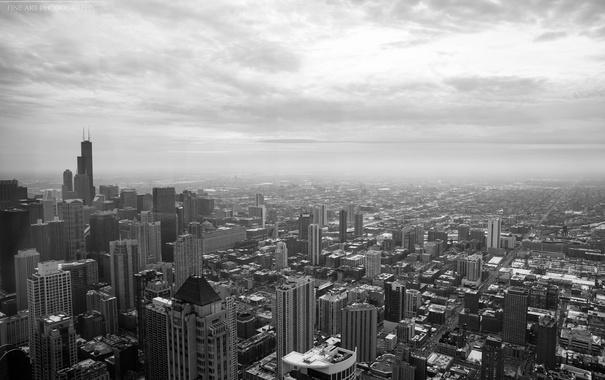 Фото обои city, здания, высота, небоскребы, USA, америка, чикаго