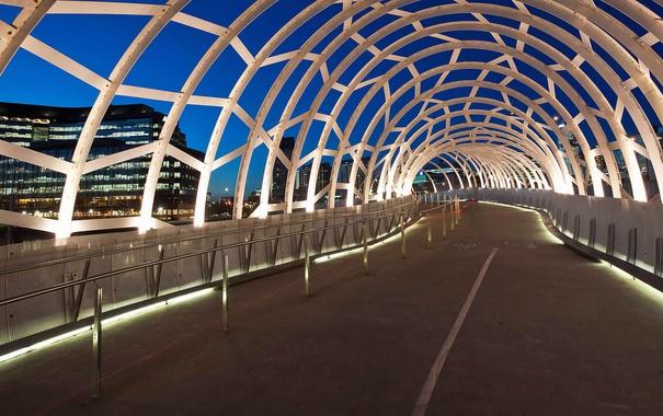 Фото обои интерьер, Австралия, тоннель, Мельбурн, Webb Bridge