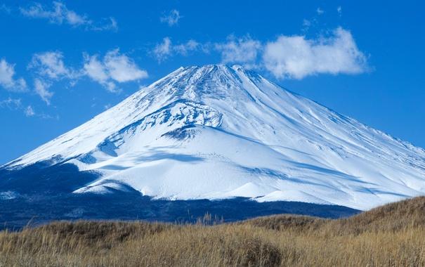 Фото обои вулкан, Fuji, пейзаж, Япония, гора