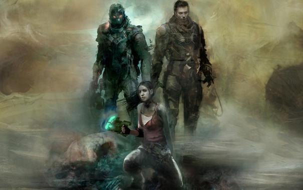 Фото обои девушка, солдаты, броня, плазменный резак, NeoGAF, Джон Карвер, Dead Space: Liberation