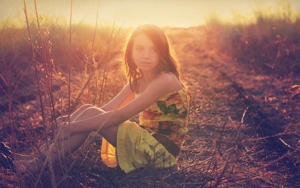 Фото обои свет, настроение, девочка