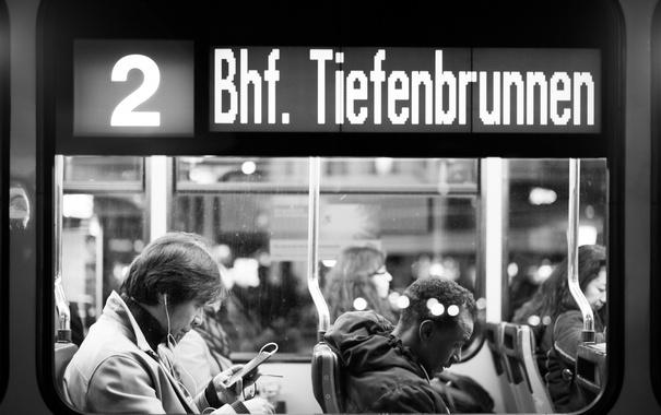 Фото обои people, window, tram