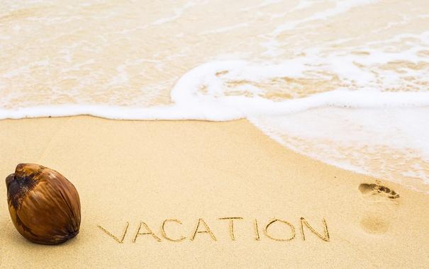 Фото обои песок, море, пляж, лето, надпись, summer, beach