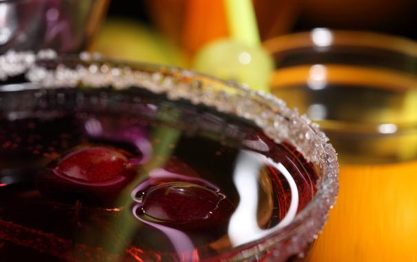Фото обои ягоды, коктейль, сахар, напиток