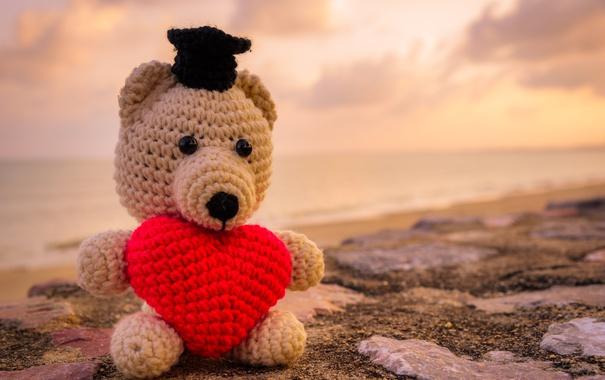 Фото обои Teddy, любовь, romantic, bear, sweet, toy, love