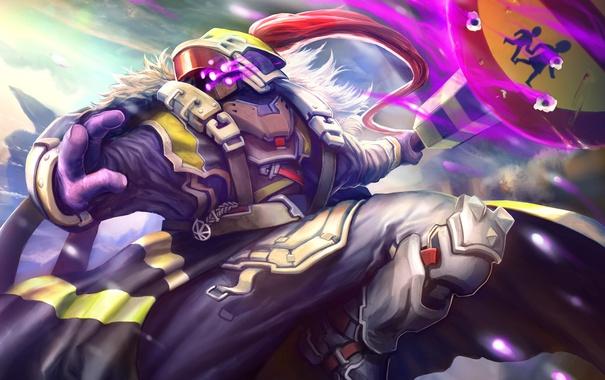 Фото обои воин, маска, костюм, art