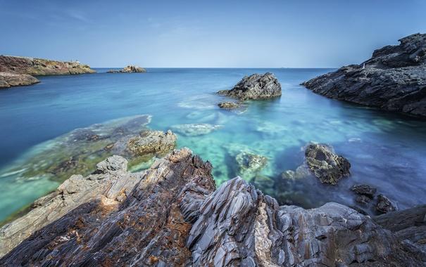Фото обои море, скалы, Испания, Cabo de Palos, Murcia