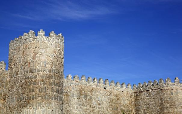 Фото обои стены, памятник, крепость, Испания, средневековье, Авила