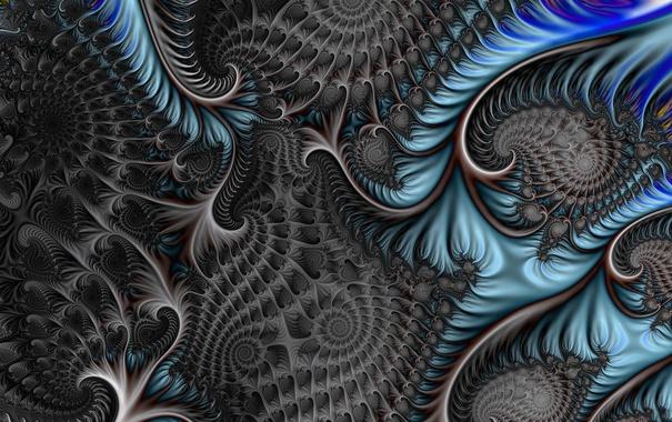 Фото обои линии, свет, фрактал, узор, цвет