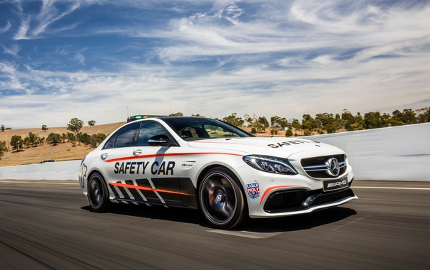 Фото обои Mercedes-Benz, W205, C-Class, мерседес, Safety Car, AMG, амг