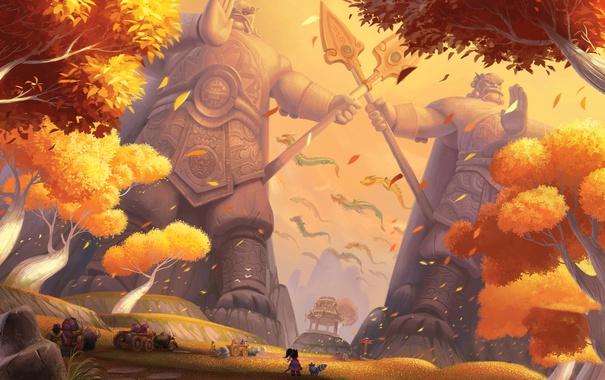 Фото обои World of Warcraft, Путевые заметки Ли Ли: Вечноцветущий дол, Ли Ли, Pandaria