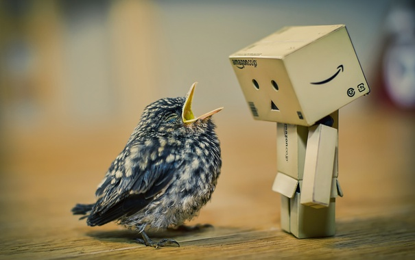 Фото обои дамбо, милый, птичка, птенец