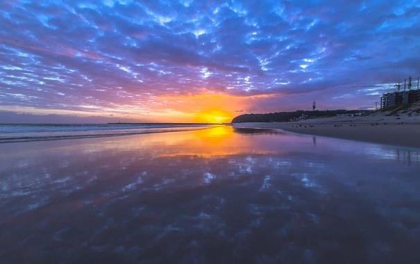 Фото обои море, пляж, солнце, тучи, photographer, Ruan Bezuidenhout, Vetch's Beach