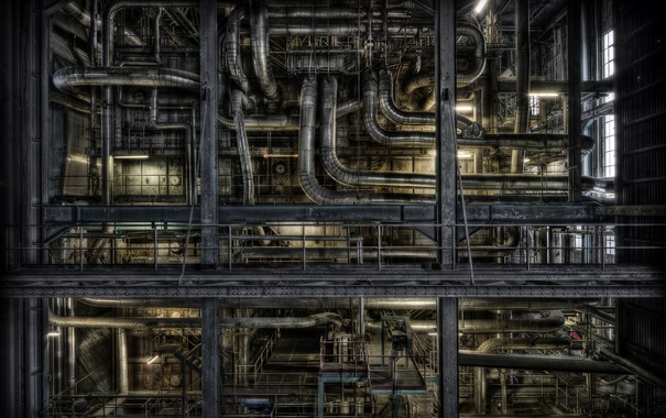 Фото обои фон, завод, фабрика