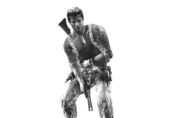 Фото обои игра, герои, Uncharted 3, Nathan Drake