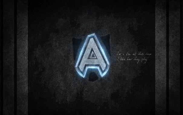 Фото обои свет, полосы, надпись, Команда, дота, дота 2, alliance