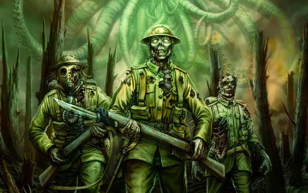 Фото обои зомби, солдаты, Call of Cthulhu, The Wasted Land