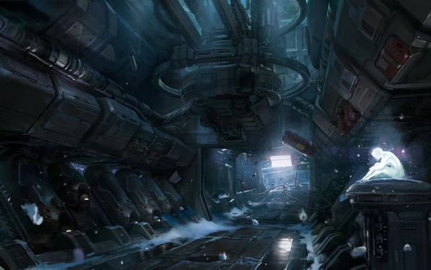 Фото обои Арт, Голограмма, Невесомость, Halo 4, Фантастика