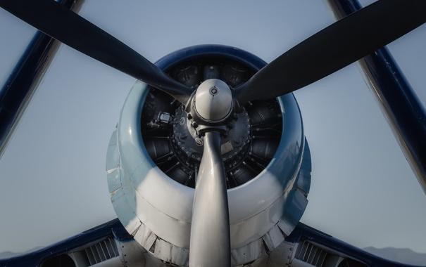 Фото обои истребитель, пропеллер, Corsair, «Корсар»