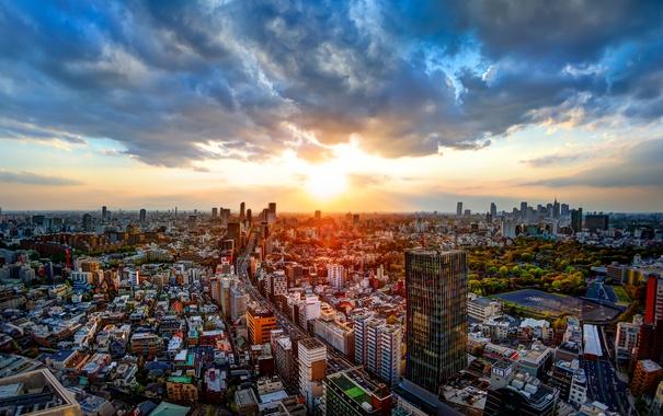 Фото обои city, япония, токио, мегаполис, japan, tokio, cityscape