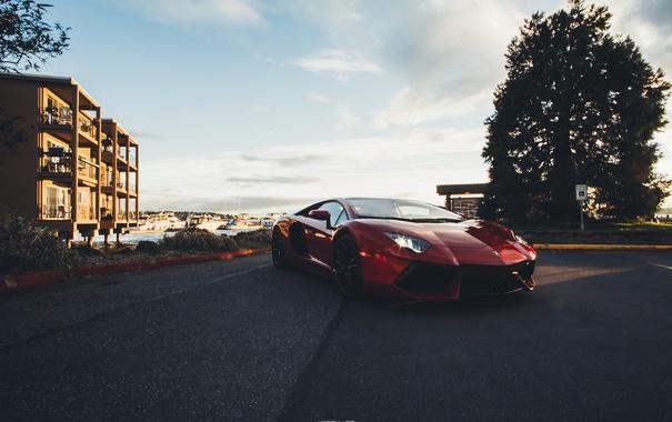 Фото обои Lamborghini, Car, Auto, Aventador, Italian
