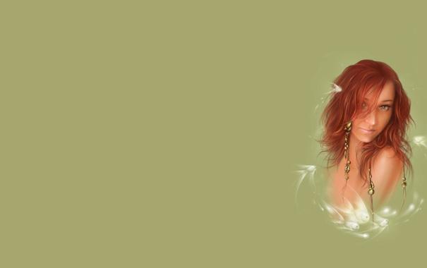 Фото обои девушка, настроение, рисунок, арт, фЭнтези
