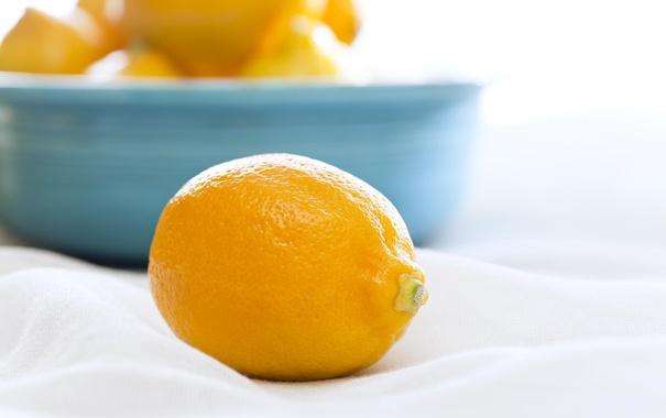 Фото обои макро, лимон, фрукт, цитрусовые