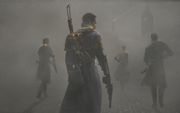 Фото обои Playstation 4, Стимпанк, The Order 1886, Steampunk, Лондон, туман, London