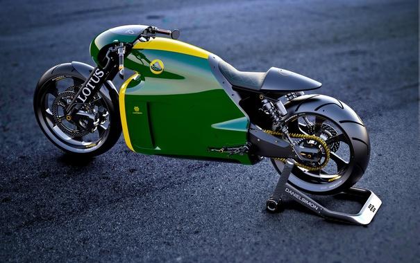 Фото обои Мотоцикл, Design, Зеленый, C-01, Superbike, 2014, Green