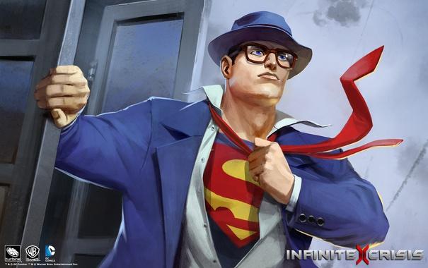 Фото обои Superman, Clark Kent, infinite crisis