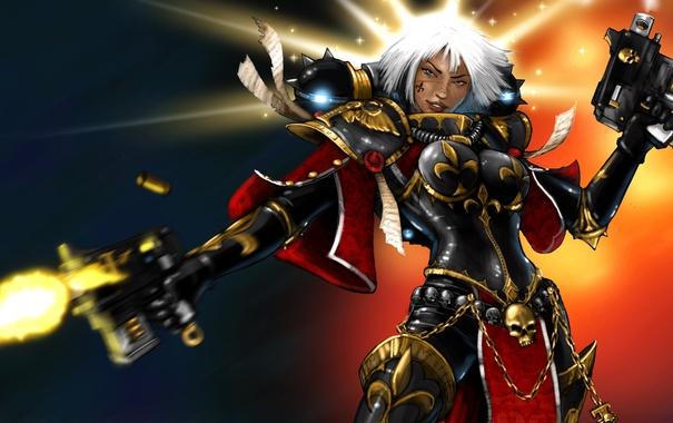 Фото обои рисунок, gun, art, 40k, Warhammer 40 000, Sisters of Battle