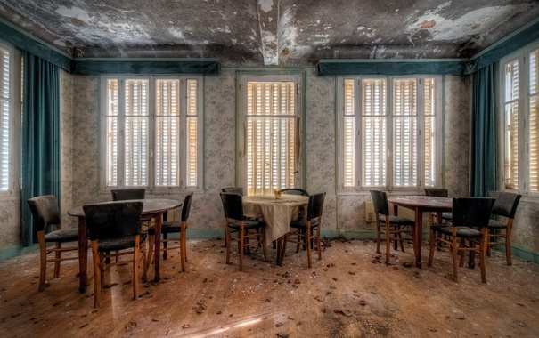 Фото обои стулья, столы, ресторан