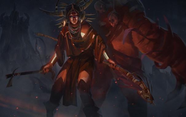 Фото обои Diablo 3, шаман, witch doctor, Malthael