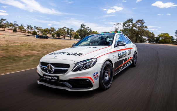 Фото обои Mercedes-Benz, мерседес, AMG, амг, Safety Car, C-Class, W205