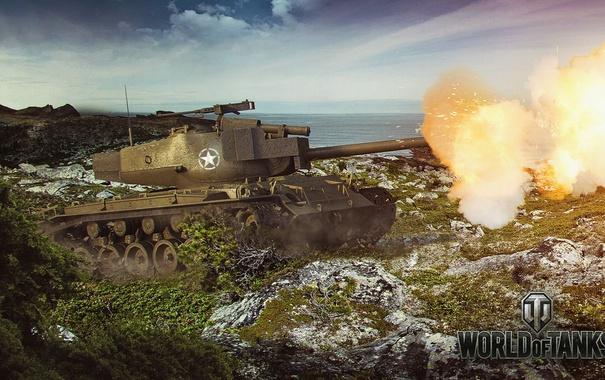 Фото обои танк, USA, США, танки, WoT, Мир танков, tank