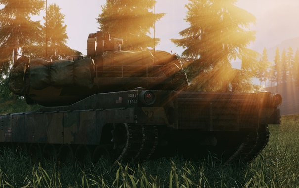 Фото обои природа, игра, Battlefield 4, M1 Abrams